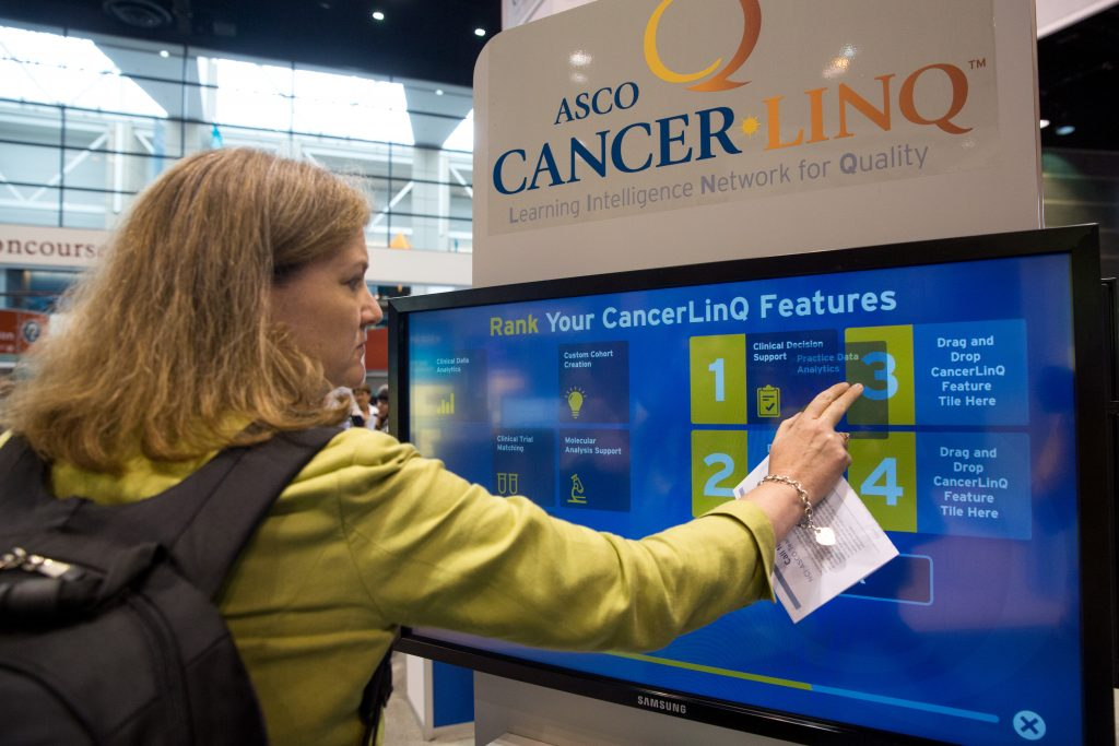 A flexible tool for clinicians. An ASCO delegate checks out the different functions CancerLinQ can offer